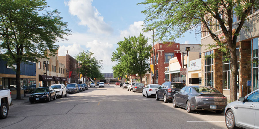 Downtown Willmar's main street.