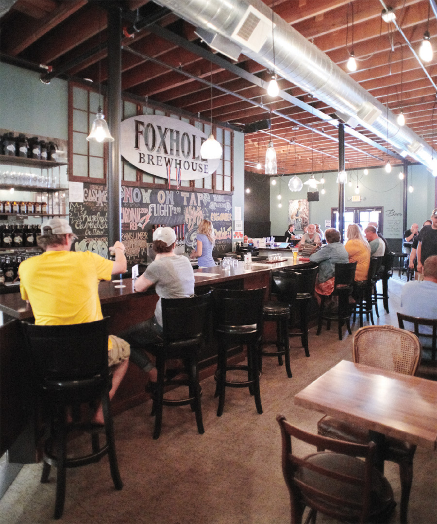 Fun at Foxhole Brewhouse, the diner charm of Frieda's Cafe.