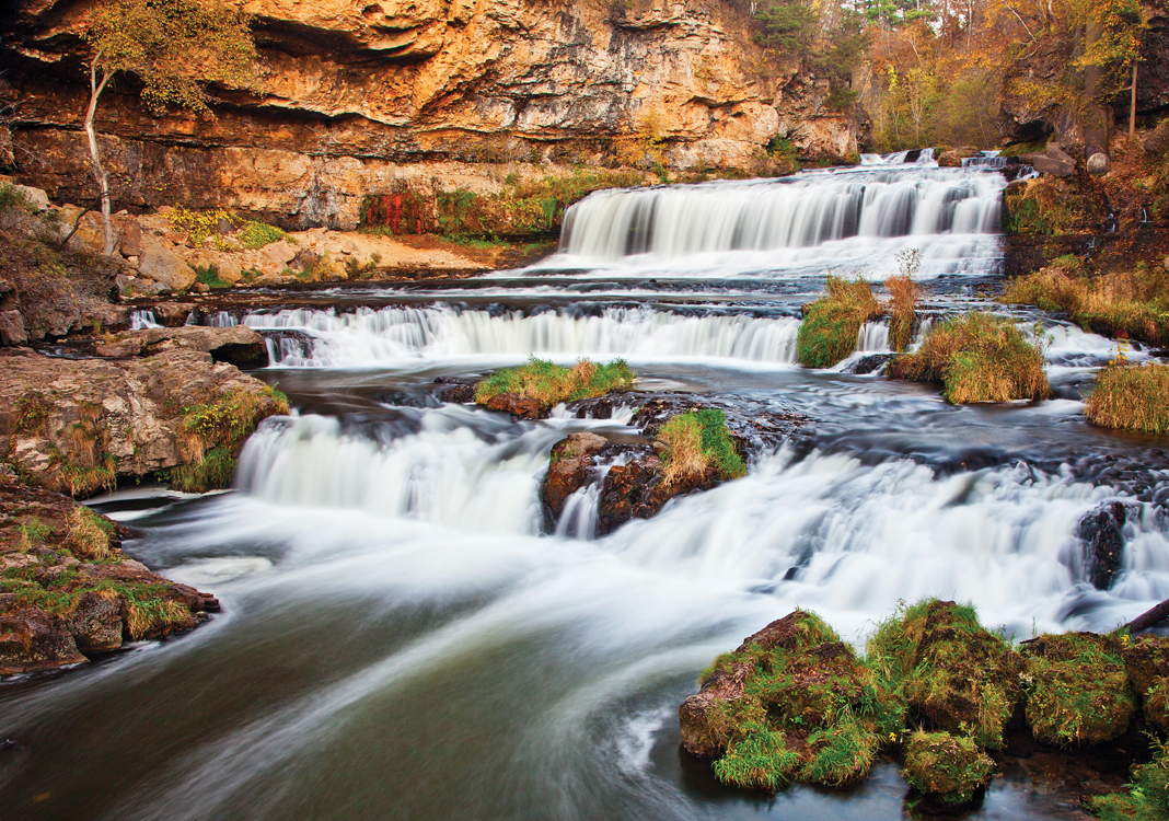 Willow Falls in Willow River State Park in Hudson, Wisconsin.