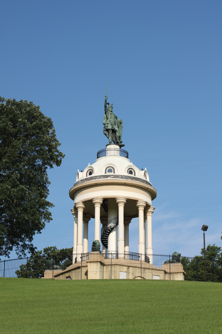 The Hermann Heights Monument in New Ulm, Minnesota.
