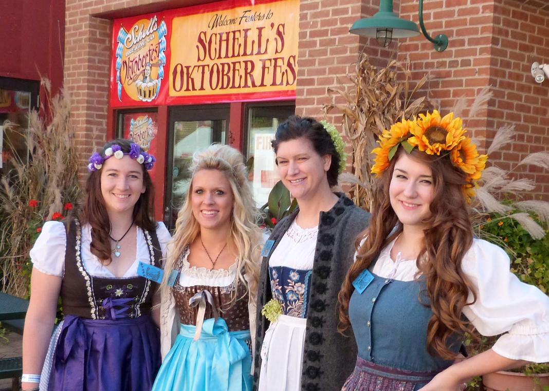 Oktoberfest revelers at Oktoberfest in New Ulm, Minnesota.