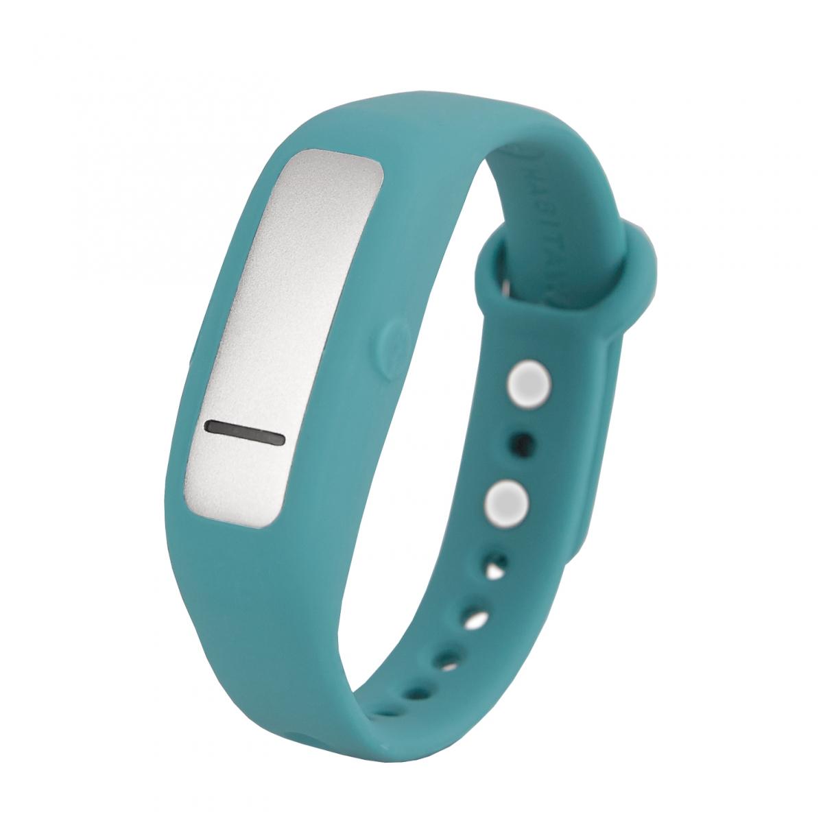 HabitAware's Keen bracelet, teal sporty model. Photo courtesy HabitAware.