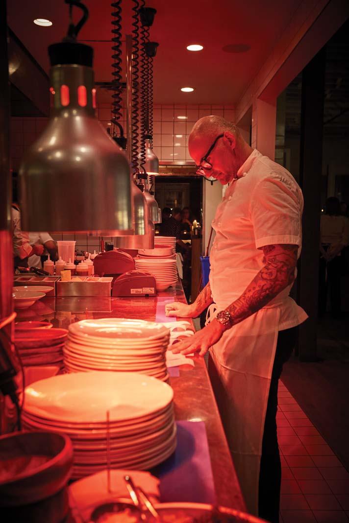 Chef Daniel del Prado working at Martina.