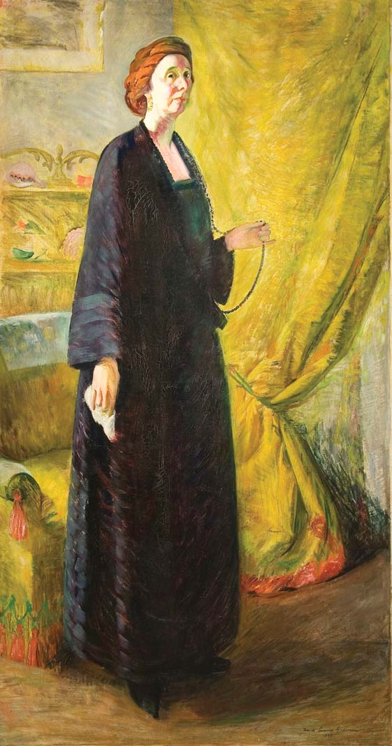 A portrait of Clara Mairs (1923) by Frances Cranmer Greenman in the Minnesota Museum of American Art's new spaces.