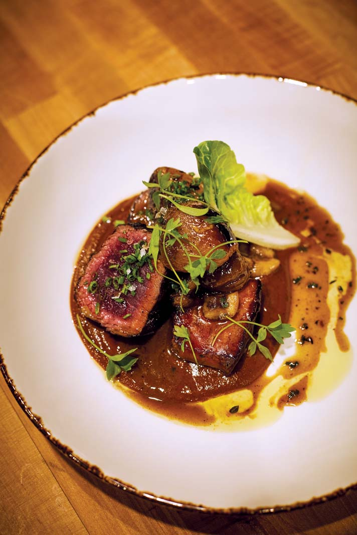 Cocoa-scented backstrap at In Bloom.