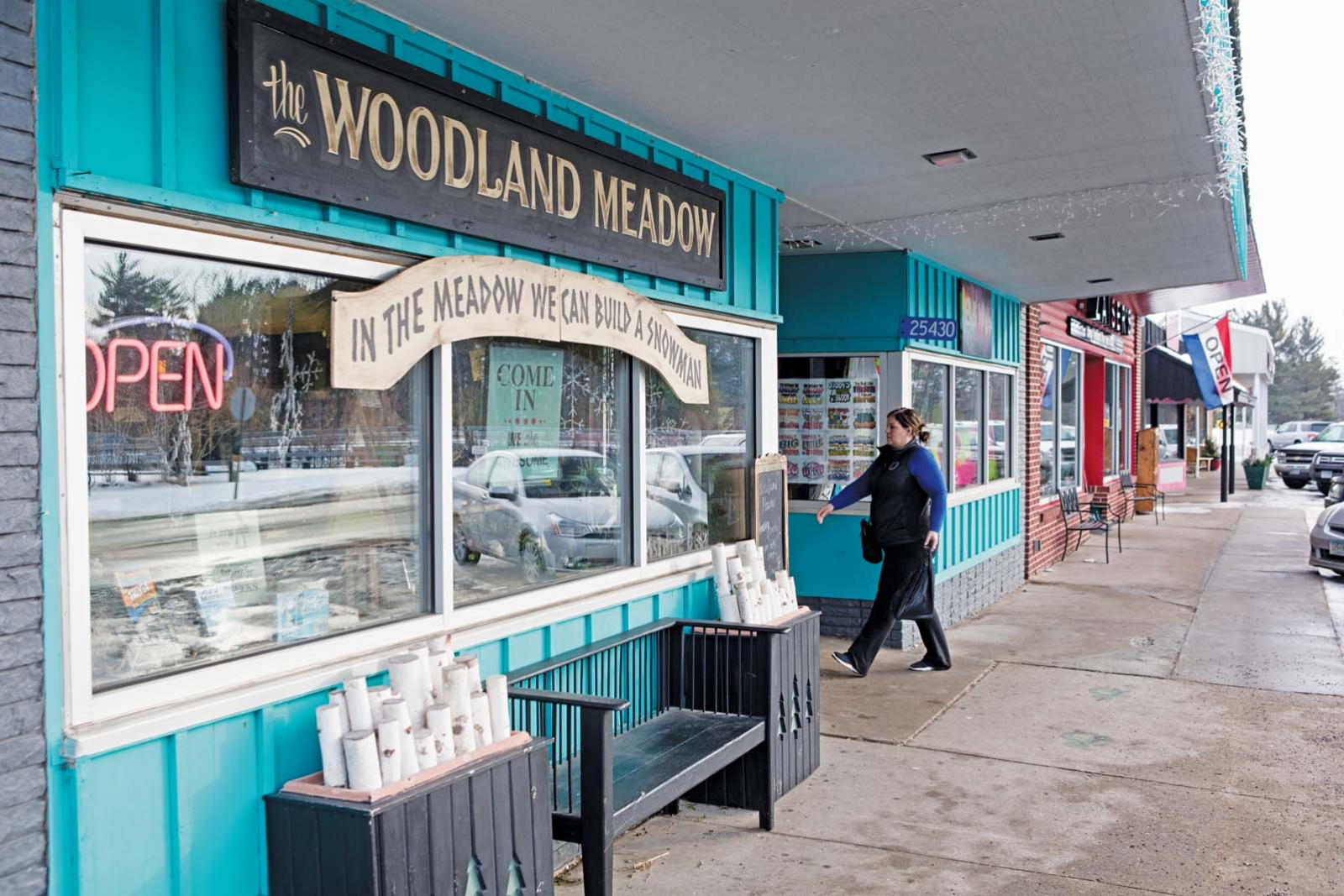 The exterior of Woodland Meadow gift shop.
