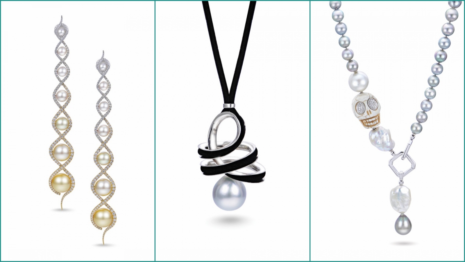 Three pearl jewelry pieces that will be shown at Max's in the upcoming weeks. Photo courtesy Max's.