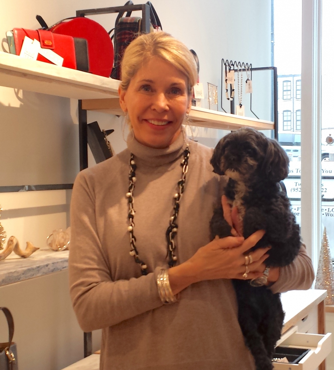 Denise Houser and her dog, Rudy. Photo by Lianna Matt.