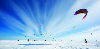 Kite Crossing on Lake Mille Lacs