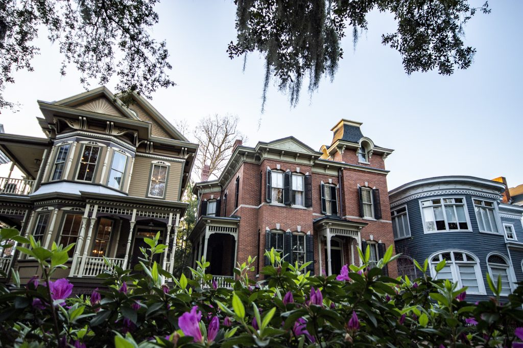 three traditional Southern victorian houses