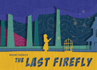 """A paper cut promotional poster for Theater Mu and SteppingStone Theatre's """"The Last Firefly."""" Courtesy Theater Mu."""