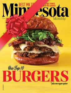 Minnesota Monthly, May/June 2019 cover with ribbon