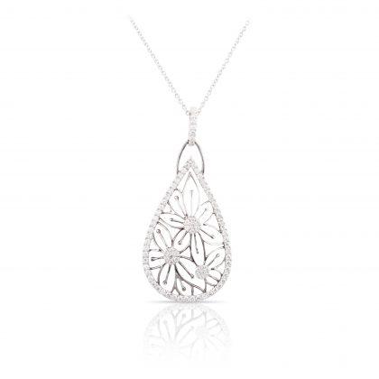 Flower Diamond Pendant by Spark Creation