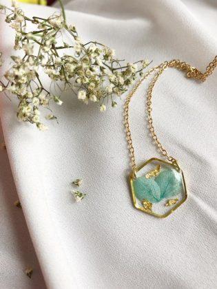 Blue Flower Necklace by Felis Jewelry