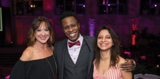 From left: Molly McMillen, John Nyagaka, Mesha Manan
