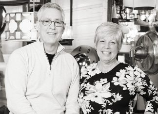 Photo of Tony and Celeste Schumacher, owners of Muska Lighting