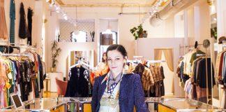 Owner Audra ___ at her shop, Golden Pearl Vintage