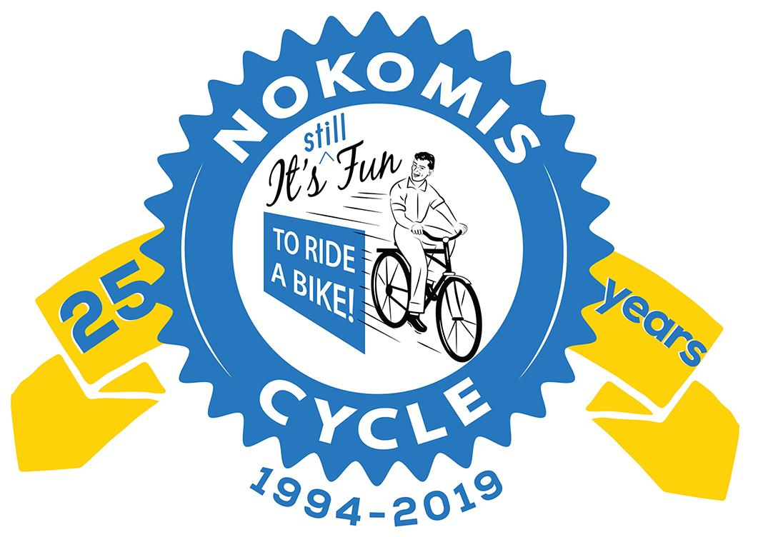 Photo of Nokomis Cycle 25 Years Logo