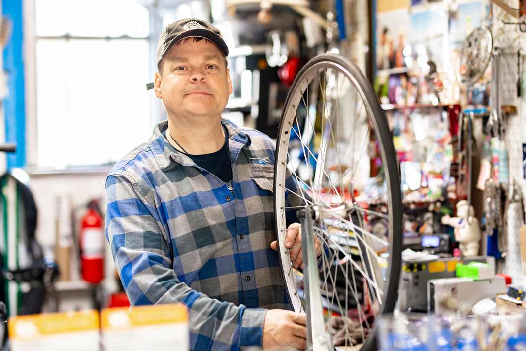 Photo of Nokomis Cycle Bike Shop Owner, Dwight Gronlund