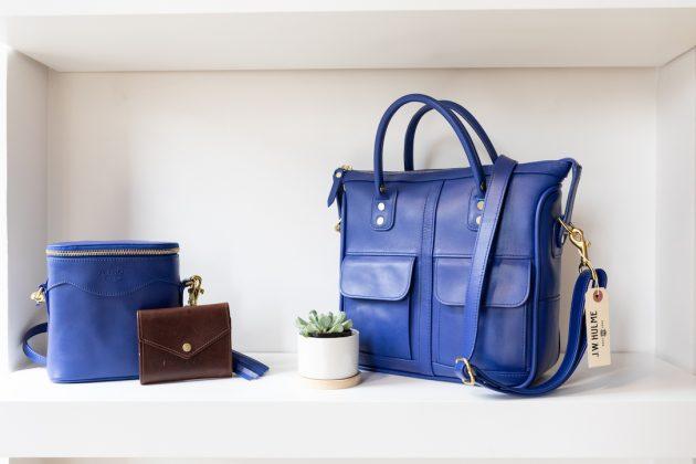 Blue leather at J.W. Hulme Co.