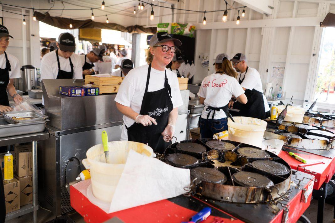 Stine Aasland, of Nordic Waffles