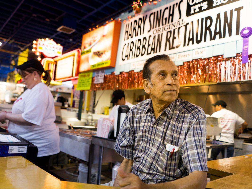Harry Singh, of Harry Singh's Original Caribbean Restaurant