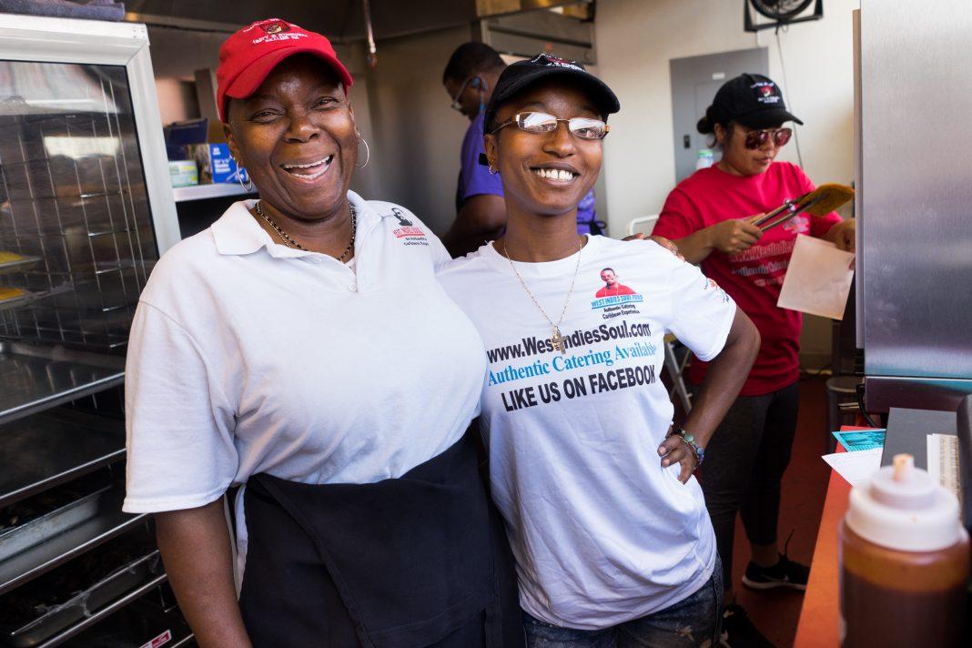 West Indies Soul Food owner Sharon Richards-Noel (left)