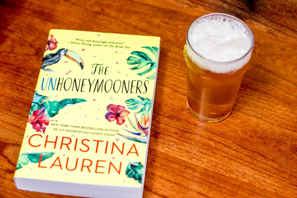 Image of the Unhoneymooners by Christina Lauren and the Short Pants Lemon Shandy Beer from Bauhaus