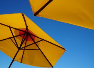 beach umbrellas