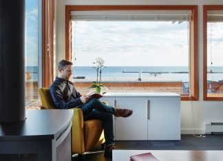 Reed Fischer in the SkyHouse of Grand Marais
