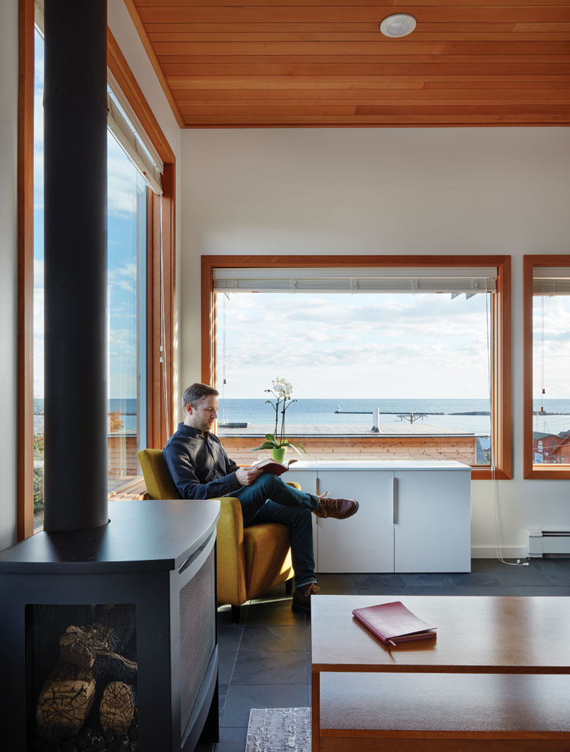 Senior editor Reed Fischer at the SkyHouse in Grand Marais