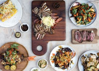 A selection of Hmong dishes by chef Yia Vang of Union Kitchen