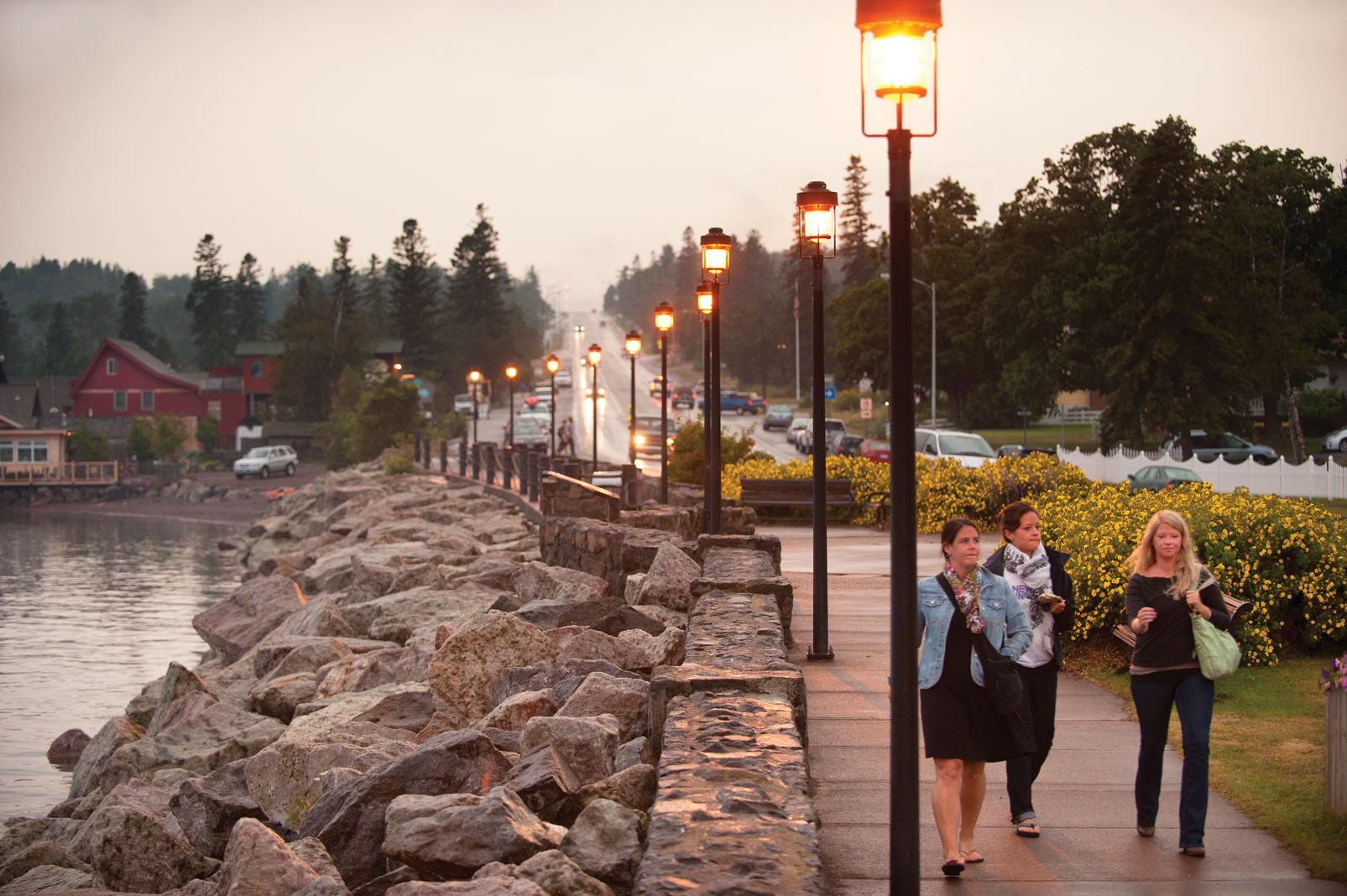 Grand Marais harbor is prime for strolling