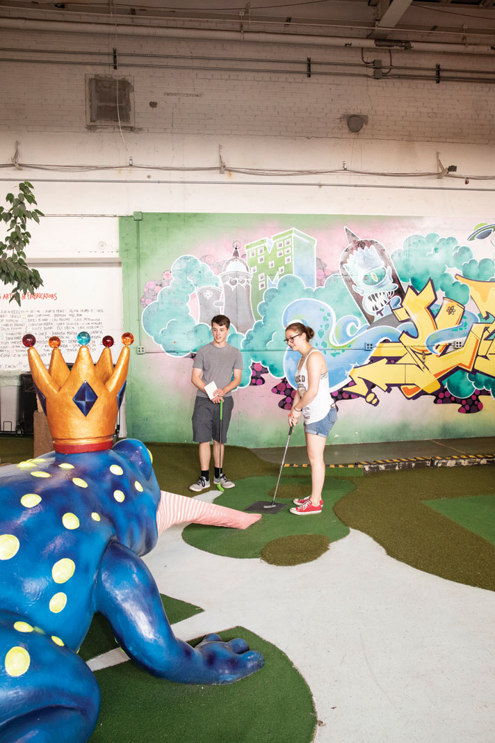 Mini-golf hole No. 7, Blue Toad, at Can Can Wonderland