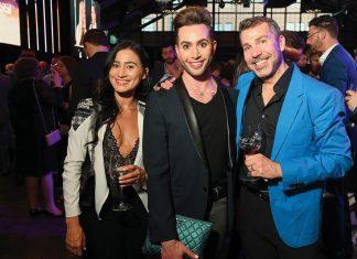 From left: Vanessa Hakeen, Luke DuBois, Alton Porter