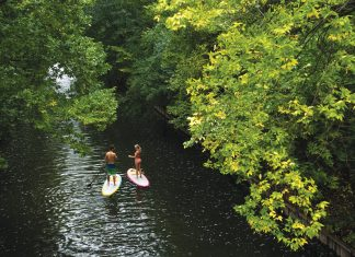 The Chain of Lakes in Minneapolis has plenty of board-friendly passages