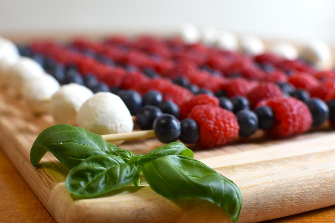 Basil on fruit tray