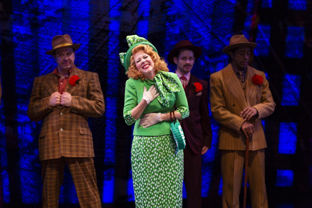 photo of Kirsten Wyatt as Miss Adelaide in Guys and Dolls at the Guthrie
