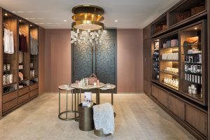 The curated retail space of Anda Spa is full of crystals and skincare products.