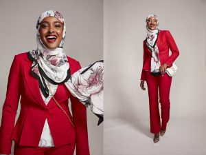A woman in a hijab for Rosedale Center's spring campaign