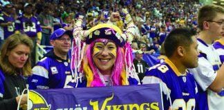 A Vikings game at U.S. Bank Stadium