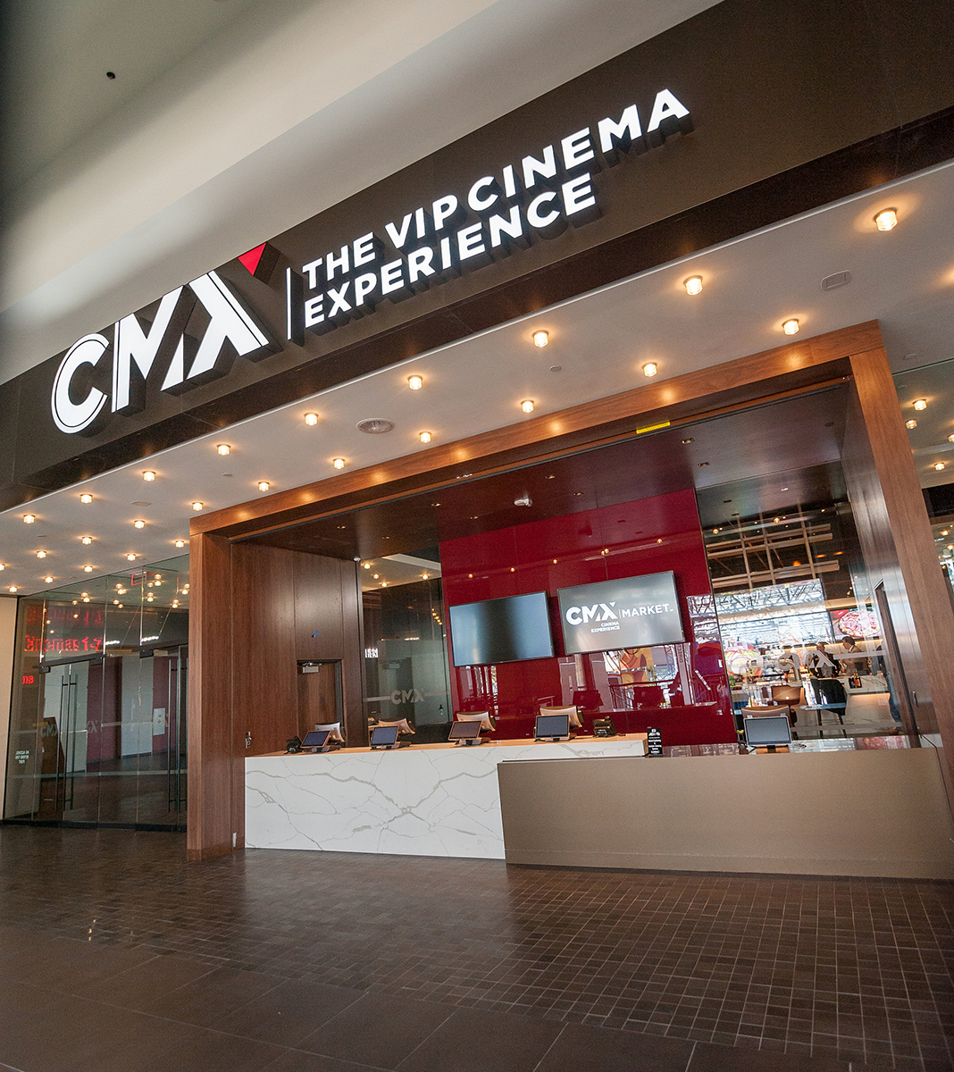 The entrance of CMX Market Cinemas at Mall of America