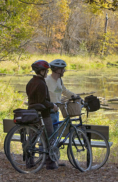 Fall biking in the Willmar Lakes Area