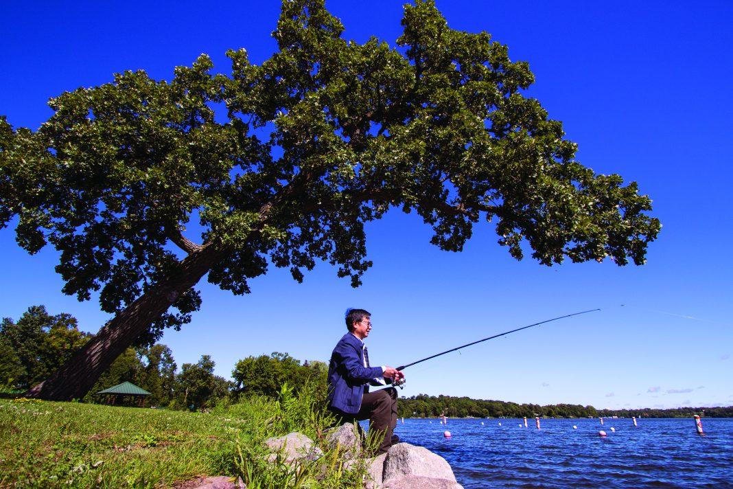 Fishing on Medicine Lake