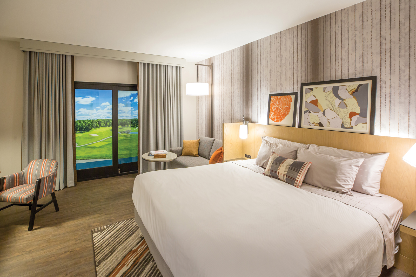 Rooms boast boutique hotel comforts—walking distance from Gull Lake
