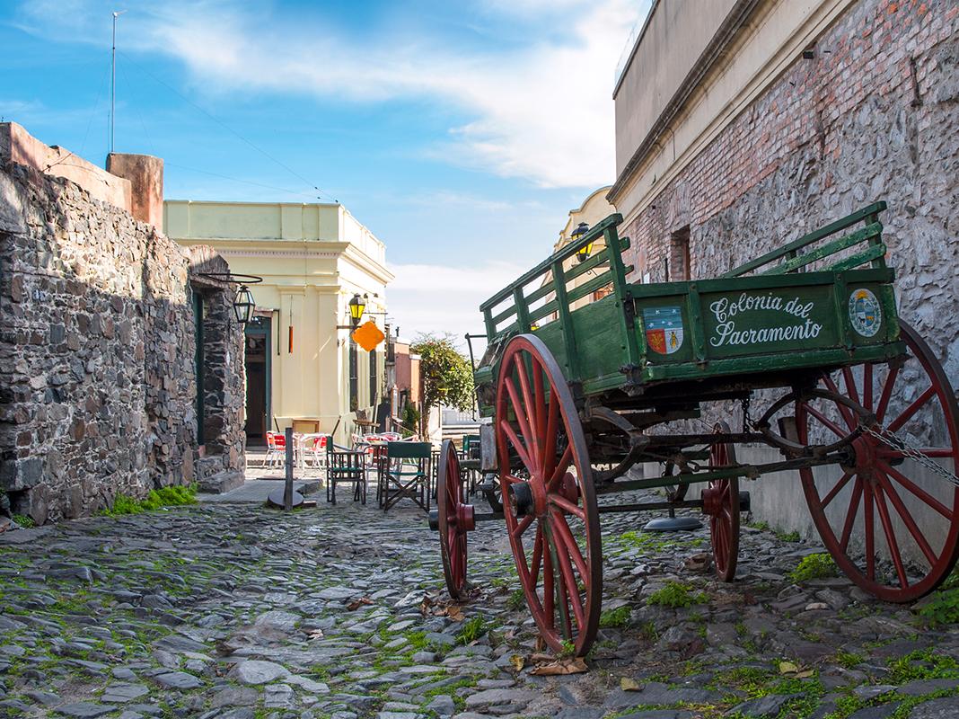 Historic neighborhood in Colonia del Sacramento, Unesco World Heritage town, Uruguay