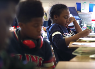 "Still from ""Love Them First: Lessons from Lucy Laney Elementary"""
