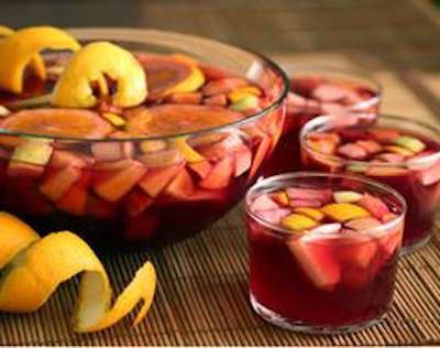 Dip in to a ghoulishly colorful punch for Halloween