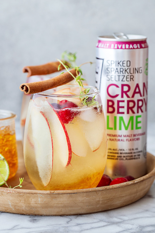 Fresh and light fruit flavors come together in the Cranberry Apple Smash