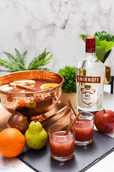 Cinnamon whiskey spices up this Fall Punch